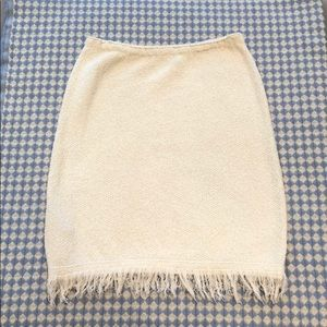 Prada ivory knit skirt